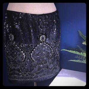 NWT AKIRA Sequin Skirt LG